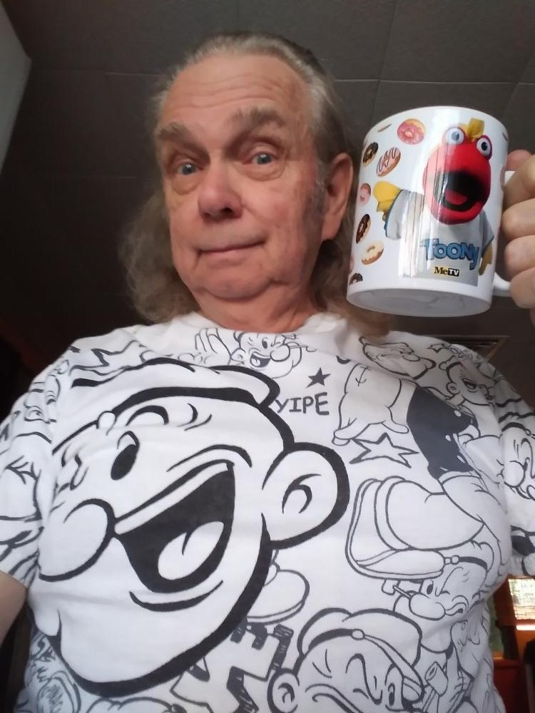 I got an early Father's day gift - I wonder if Toony can guess who my favorite cartoon character is?