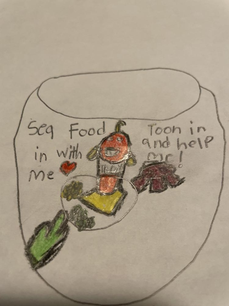 Toony is inviting you (bill) to a nutritous lunch.