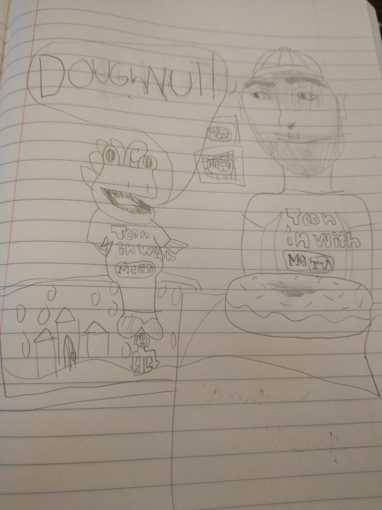 My daughter Marley loves METV!  She drew this because Toony likes doughnuts.